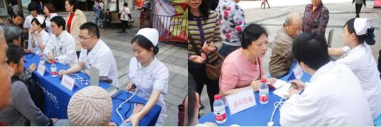 协和团总支青年志愿者社区送健康